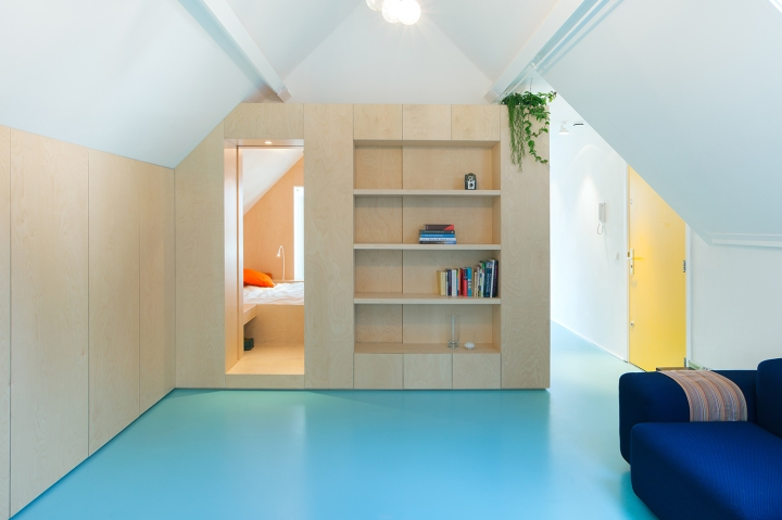 Bureau Fraai – Amsterdam urban loft | plywood | birch plywood | plywood in interior
