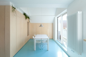 Bureau Fraai – Amsterdam urban loft | plywood | birch plywood | plywood in interior | dining space | plywood dining space