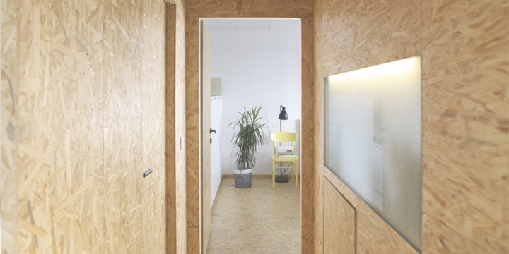 Architects used OSB for a complete transformation of an old apartment in Zagreb