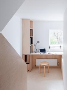 Larissa Johnston Architects - Islington Maisonette | plywood | plywood in interior | plywood workspace