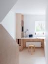 Larissa Johnston Architects - Islington Maisonette   plywood   plywood in interior   plywood workspace