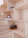Larissa Johnston Architects - Islington Maisonette | plywood | plywood in interior | plywood furniture | plywood shelf | plywood edge
