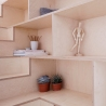 Larissa Johnston Architects - Islington Maisonette | plywood | plywood in interior | plywood furniture | plywood shelf | plywood edge