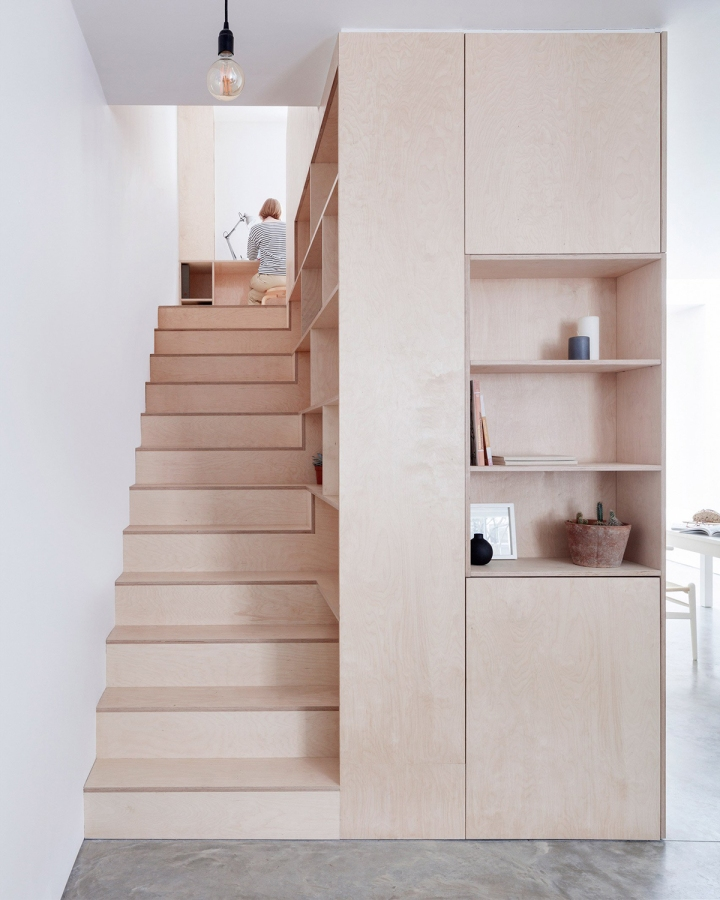 Larissa Johnston Architects - Islington Maisonette | plywood | plywood in interior | plywood box | plywood stairs