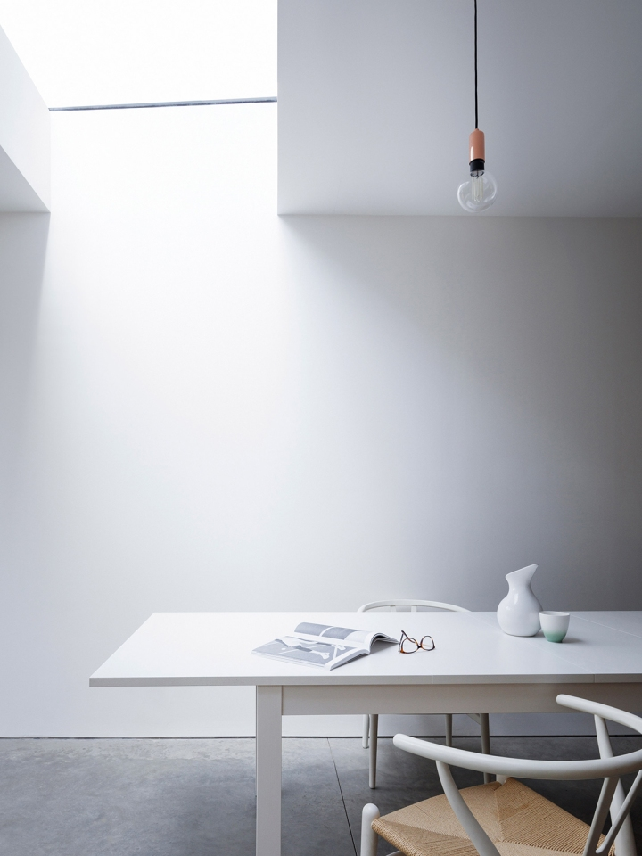 Larissa Johnston Architects - Islington Maisonette | plywood | skylight | dining space