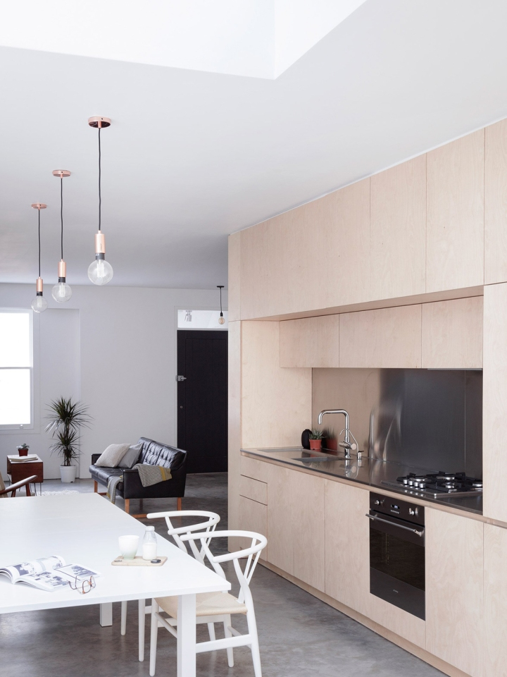 Larissa Johnston Architects - Islington Maisonette | plywood | plywood in interior | plywood kitchen