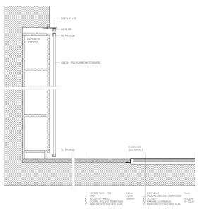 Apartment remodel in Zagreb   entrance storage detail