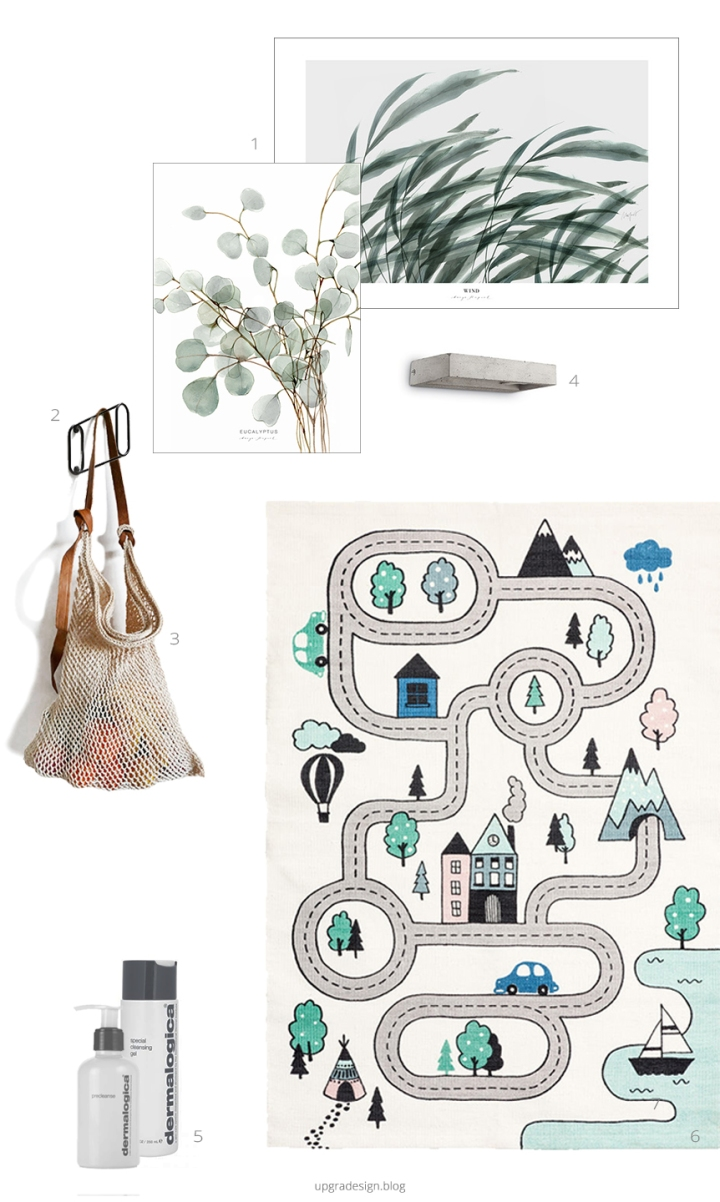 february favourites_upgradesign | woud | nido collective | h&m home | margo hupert art | dermalogica | concrete wall lamp