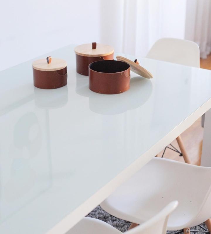 Kora - Box Beret | product design | wood | leather | box set