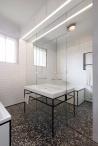 IFUB - Apartment S | new bathroom | terrazzo floor | black and white bathroom | mirror wall