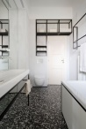 IFUB - Apartment S | new bathroom | terrazzo floor | black and white bathroom