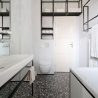 IFUB - Apartment S | new bathroom | terrazzo floor | black and white bathroom