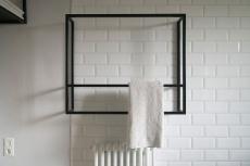 IFUB - Apartment S | new bathroom | terrazzo floor | black and white bathroom | bathroom detail