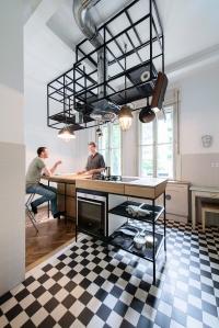 IFUB - Apartment S   kitchen   kitchen island   steel details