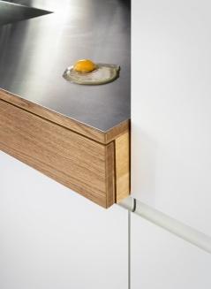 IFUB - Apartment S | kitchen | kitchen worktop | stainless steel