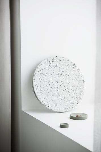 Zakkia - Terrazzo Dimple Tray | terrazzo furniture | terrazzo lighting | terrazzo accessories