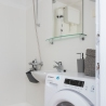 Apartment for daily rent   interior design   bathroom   light bathroom   neutral palette