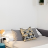 Apartment for daily rent   interior design   living and bedroom   neutral palette