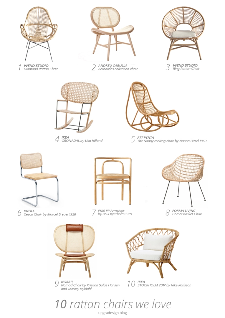 Rattan chairs we love