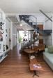 Estúdio BRA - Prajá House | narrow plot [ remodel | home remodel | contemporary | living room | staircase | modern | clean | green
