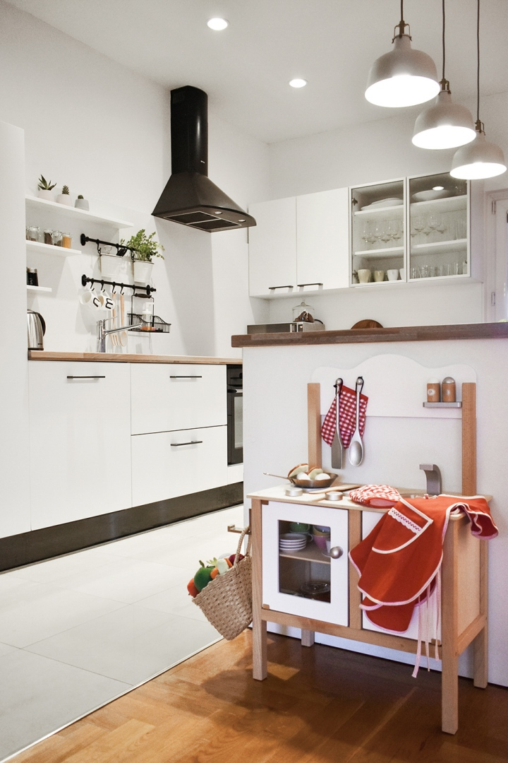 Grownup kitchen | kids kitchen | playroom | ikea kitchen