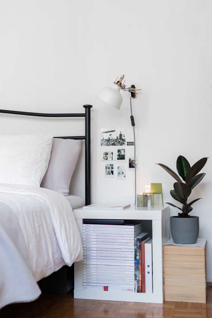 bedroom | nightstand styling | nightstand decoration | decorating | butlers | ikea | plants