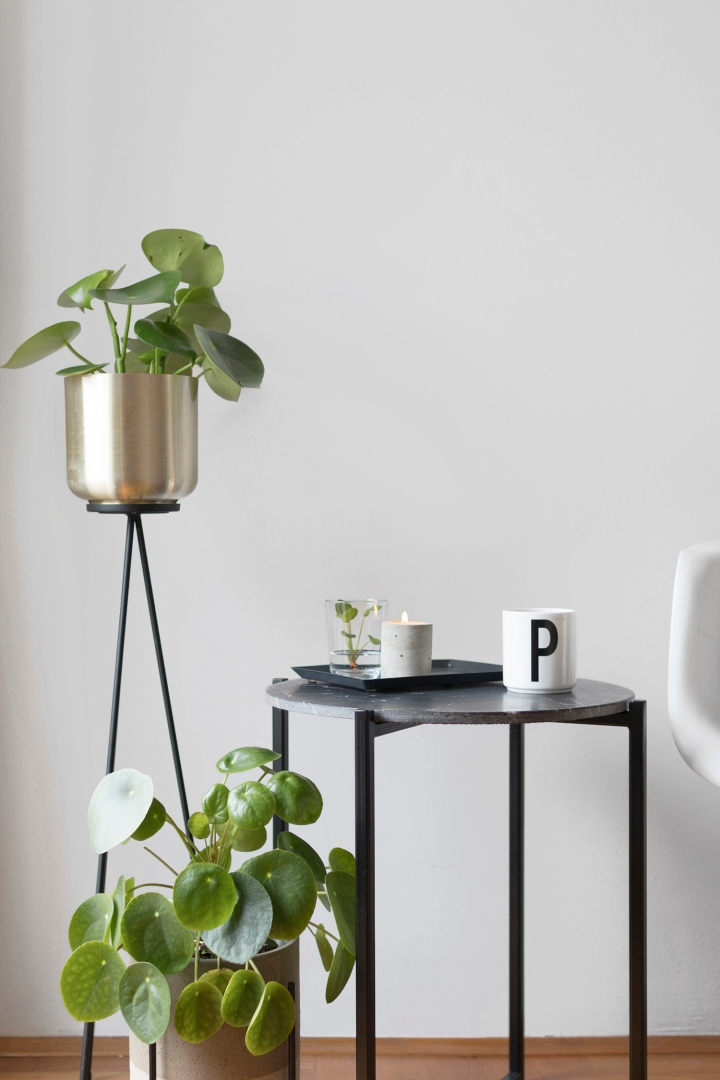 side table styling | side table decoration | decorating | butlers | design letters | plants