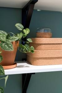 workspace styling | open shelves styling | workspace decoration | decorating | ikea | plants
