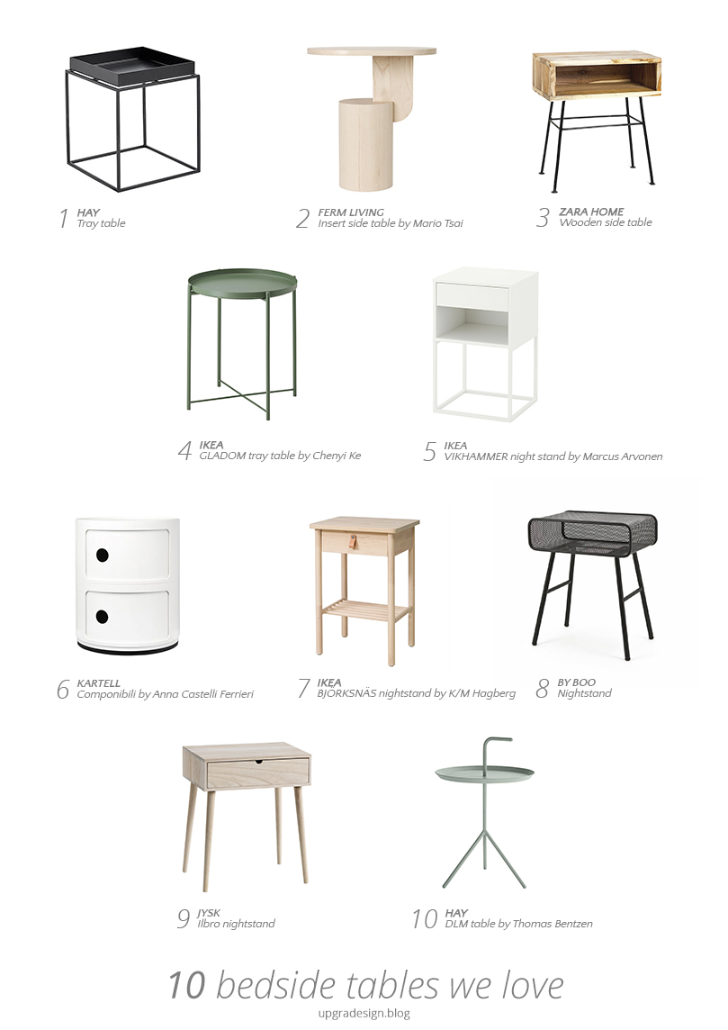 Bedside tables we love – u p g r a d e s i g n