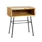 ZARA HOME_WOODEN TABLE WITH METAL LEGS