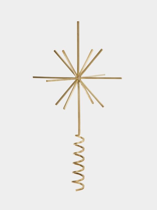 ferm living_Brass Christmas Tree Top Star