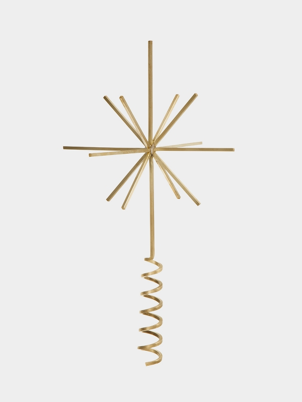 ferm living_Brass Christmas Tree Top Star