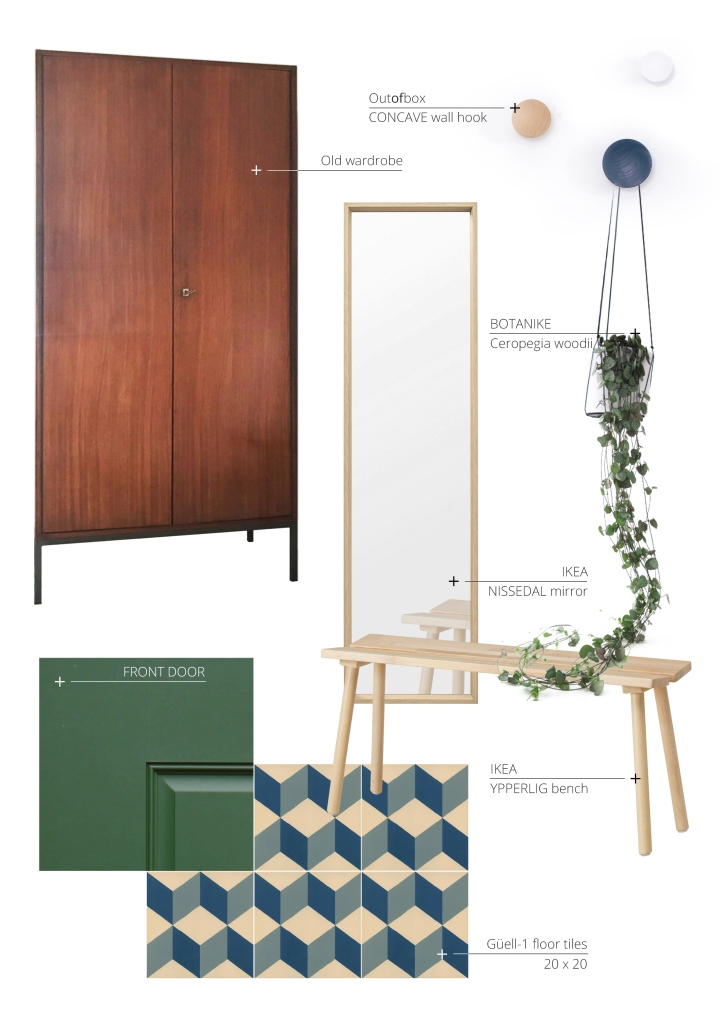 entrance space | hallway | makeover | moodboard | ikea | outofbox